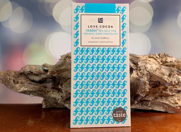 Dunkle Schokolade mit Maldon Meersalz