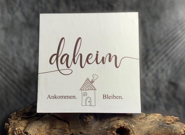 "Holzbild ""Daheim"""